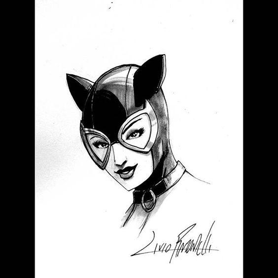 Catwoman head sketch by Livio Ramondelli  @gacclv #catwoman #batman #dccomics #selinakyle #darkknight #gotham