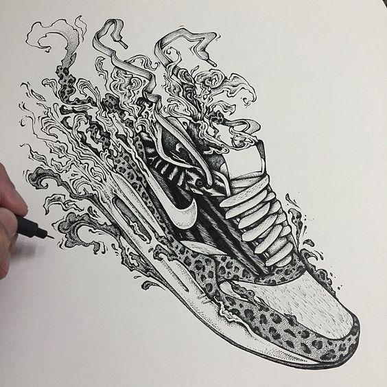 Sneaker Drawing 18267 | NANOZINE