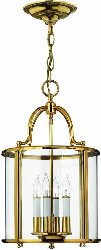 "0-003196>12""""w Gentry 4-Light Foyer Chandelier Polished Brass"