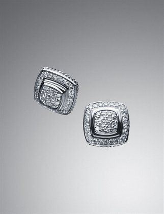 Who doesn't need earrings to match their rings? Am I right? :-P (David Yurman)
