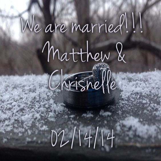 I married my Matthew on 02/14/14. Follow me on Instagram @joies_appetite to see photos of our family's adventures! #foreveryoung