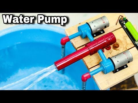 How To Make High Speed Water Pump At Home Two Dc Motor Youtube In 2020 Water Pump Motor Diy Water Pump Water Pumps