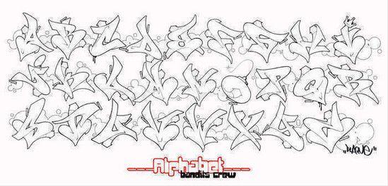 graffiti alphabet letters a-z style love