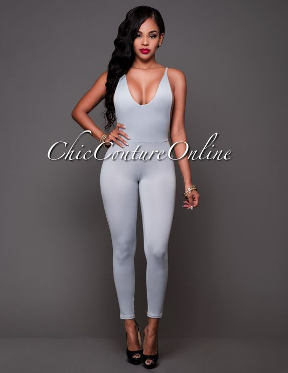Chic Couture Online - Elnora Gray Open Sides Front Jumpsuit.(http://www.chiccoutureonline.com/elnora-gray-open-sides-front-jumpsuit/)
