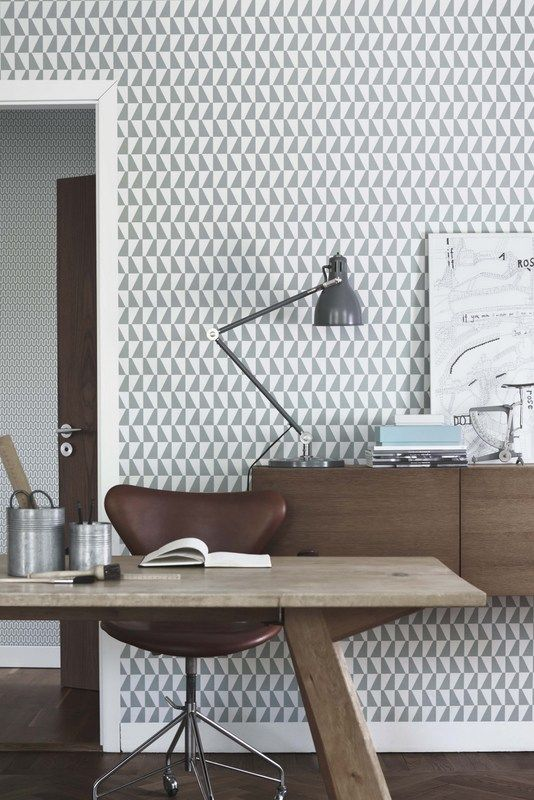 Wallpaper / part of a collection of patterns by Arne Jacobsen, Stig Lindberg, Sven Markelius and Karl Axel Pehrson. #geometry #wallpaper