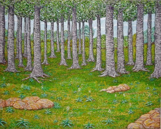 Bosque animado. Óleo sobre lienzo. 2008. 81x65cm  290€