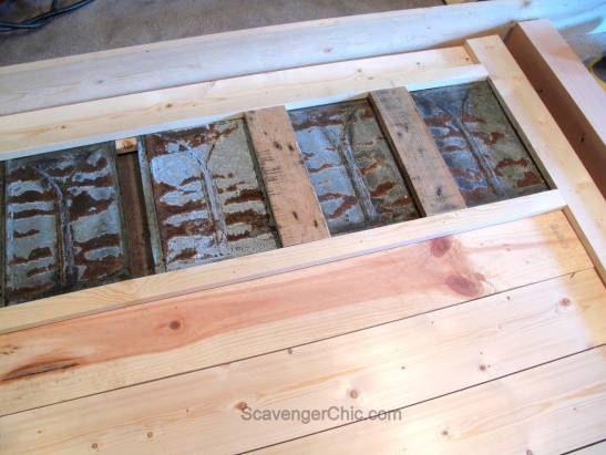 Upcycled Tin Roofing Shingles Headboard Diy Roofingterraces Diy Headboards Roofing Diy Roof Repair Diy