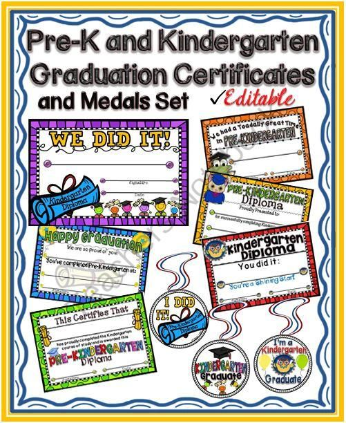 Kindergarten Awards Certificates: Kindergarten Graduation, Kindergarten And Little Ones On