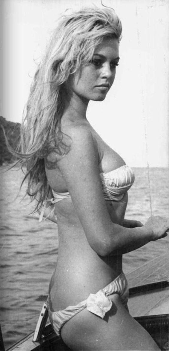 BB in a White Bikini