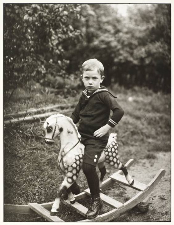 Young Boy on a toy horse, August Sander, c. 192os: