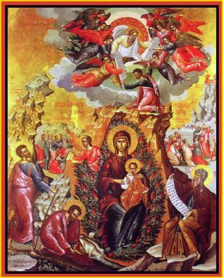 The Unburnt Bush Icon of the Most Holy Theotokos | MYSTAGOGY RESOURCE CENTER: