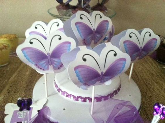 Purple Butterflies Baby Shower Party Ideas   Photo 10 of 16   Catch My Party