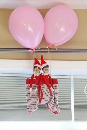 75 family friendly elf on the shelf ideas shelf ideas for Elf on the shelf balloon ride