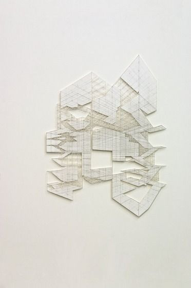 Cath campbell s perspective pencil on paper s built for Architecture organique
