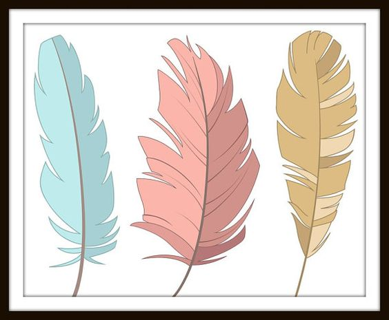 Tribal Feather Print and Feather Art on Etsy