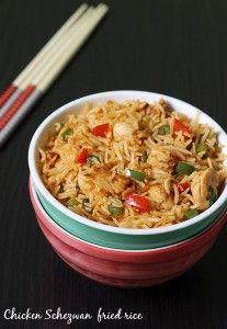 schezwan chicken fried rice recipe