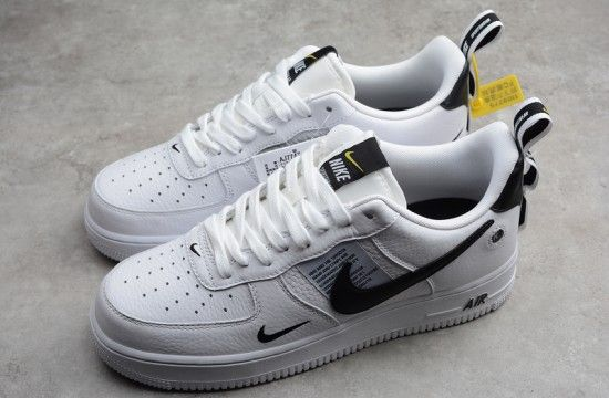 Nike Air Force 1 07 Lv8 Utility Overbranding White Black Aj7747 100 Nike Air Force Air Force Nike Air