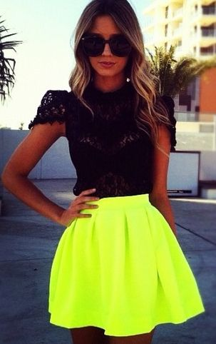 stand out this summer with neon pieces