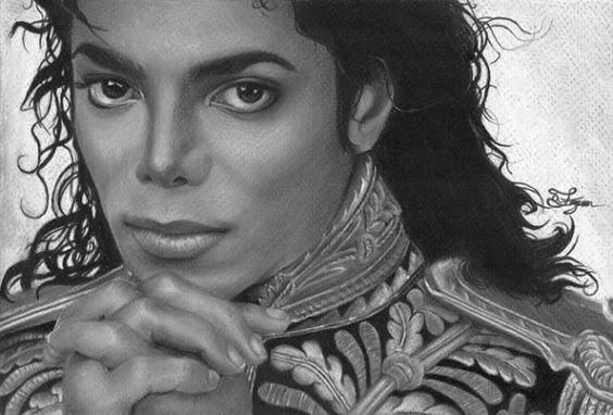 Michael Jackson Original 8x12 Giclee Canvas Print  by LainyArt,