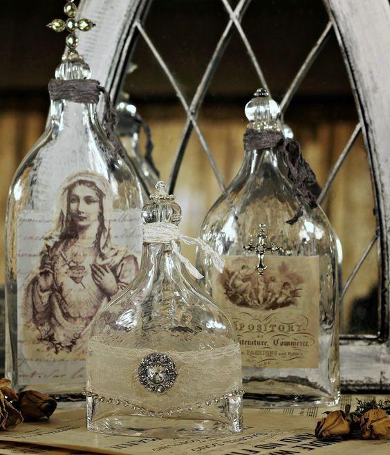 Altered Bottles...print images onto vellum