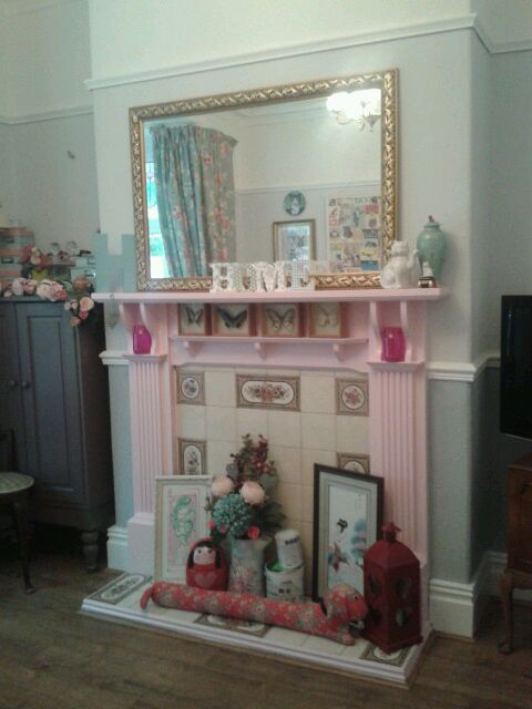 Our front room: girly and light