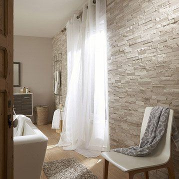 Plaquette de parement Cottage en Pierre naturelle, gris / beige