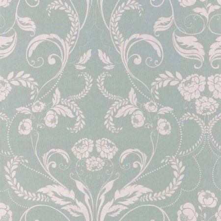 Duck Egg Blue - 104503 - Edwardian - Twiggy - Muriva Wallpaper