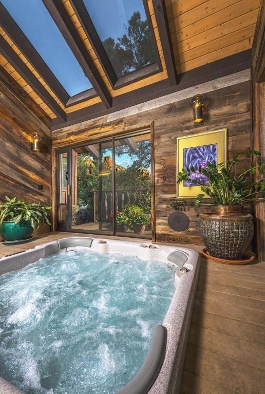 Great Hot Tub Landscape Tips Small Indoor Pool Indoor Hot Tub Indoor Jacuzzi