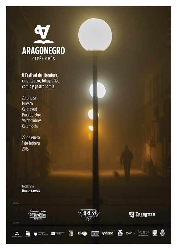 Cartel Aragon Negro 2015: