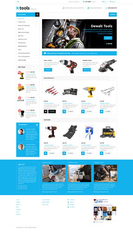 Tools Online Store #Virtuemart #template. #themes #business #responsive