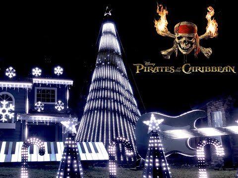 Pirates Of The Caribbean Christmas Light Show 2018 Youtube Christmas Light Show Caribbean Christmas Light Show