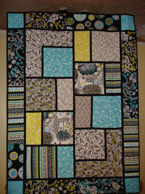Large Square Block Quilt Patterns : Alderwood Quilts: Big Block Quilt Quilt Pinterest Quilt, The black and Fabrics