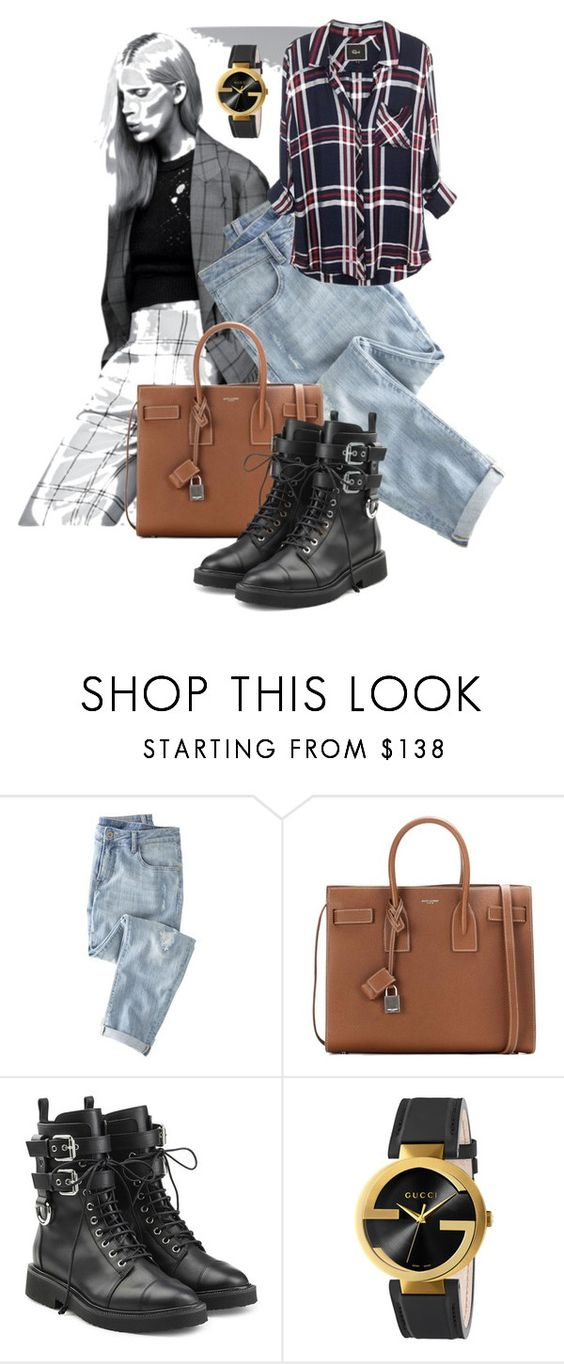 """""""Hangin' Out"""" by enchanticals ❤ liked on Polyvore featuring Wrap, Yves Saint Laurent, Giuseppe Zanotti, Gucci, casual and jeans"""