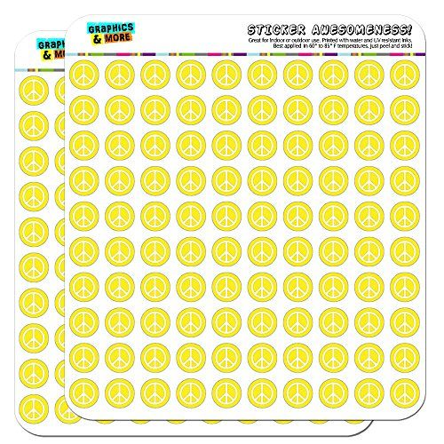 Rounded Peace Sign Symbol Yellow 12 05 Planner Cale Https