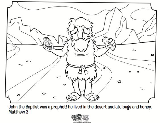 John the baptist coloring page activity matthew mark and for John the baptist coloring pages printable