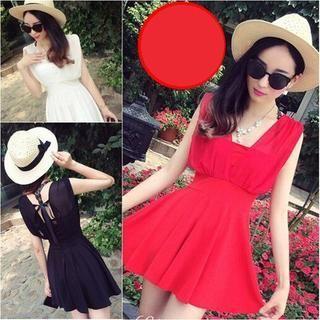 Sleeveless Dress - QZ Lady | YESSTYLE