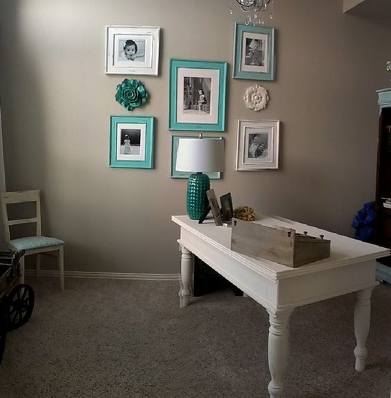 Desk painted in Southern Honey Chawk Paint: Mini Pearl
