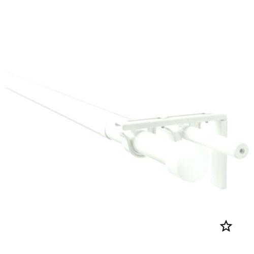 Ikea Racka Hugad Silver Color Double Curtain Rod Combination
