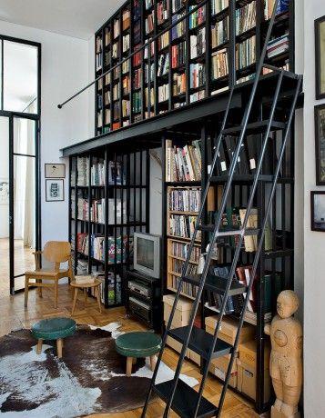 Elle d co d couvrez les int rieurs des r dacteurs en - Bibliotheque decoration de maison ...
