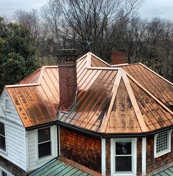 Distressed Copper Roof My Favorite Copper Roof House Copper Roof Zinc Roof