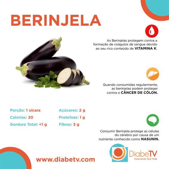 Benefícios da berinjela para o diabetes!!!  :)