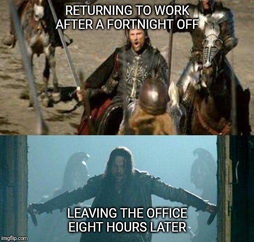 Pin By Mariam On Lotr Hobbit Memes Return To Work Christmas Break Hobbit Memes