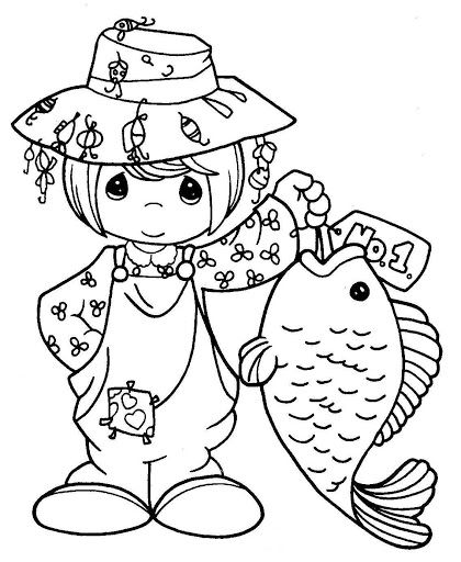 Coloring, Precious moments and Coloring pages on Pinterest