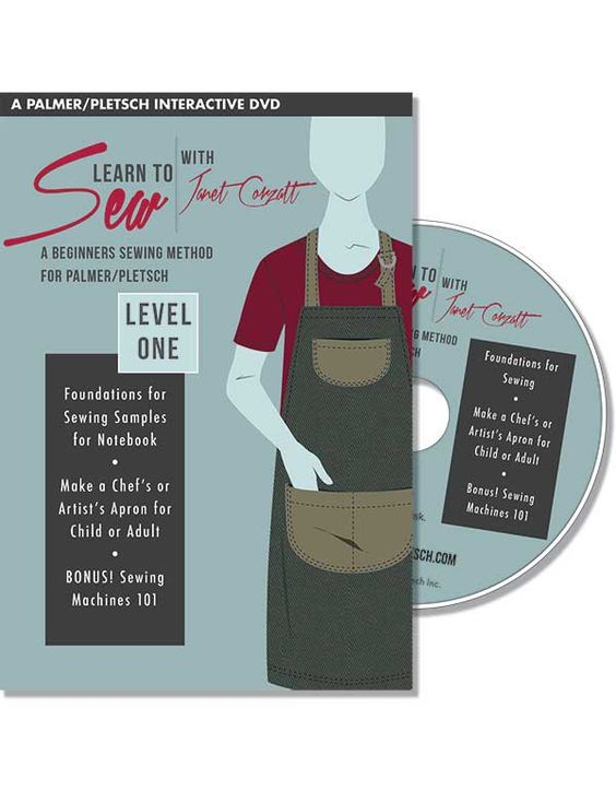 Learn to Sew With Janet Corzatt - LEVEL ONE DVD  Janet's series of four levels is geared toward the beginner, covering all the basics to help people start sewing on their own. Step-by-step pattern instructions go through the construction of three projects: LEVEL ONE: an apron; LEVEL TWO: a kimono-style robe, and LEVEL THREE:two-piece pajamas. The course also teaches how to sew zippers, elastic, buttonholes, and much more. Just think of the poss