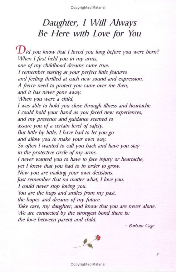 for my daughters xxxooo  Bambino  Pinterest  Poem