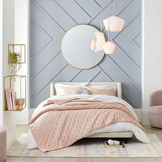 Kombinasi 2 Warna Cat Kamar Tidur Biru dan Pink 5