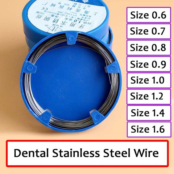 Dental Stainless Steel 0.6Mm Round Wires Surgical Instruments 50G/Pack Dus