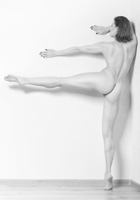 porcelain - Athletic body of young woman over white background. Fitness concept.