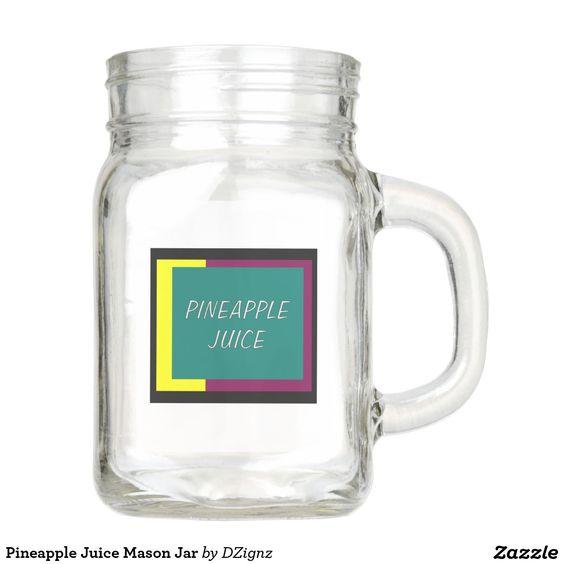 Pineapple Juice Mason Jar