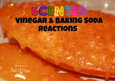 Science for Kids - SCENTED Vinegar & Baking Soda Explorations. A must try version of this tried and true child favorite!